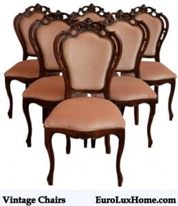 Vintage French Rococo Dining Chairs