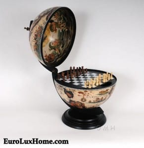 Chess set Game Globe