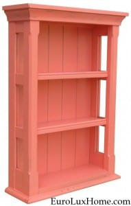 Coral pink painted cabinet