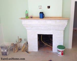 Vintage bungalow fireplace