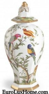 Bird of Paradise hand-painted Vase