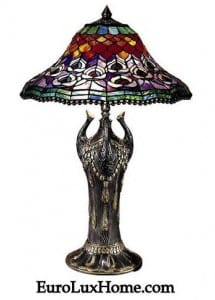 Dale Tiffany Peacock Lamp