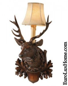 Black Forest Stag Sconce lighting