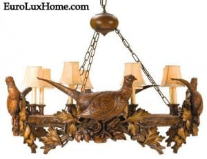 pheasant hunting style chandelier