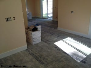 Kitchen and Sunroom before the tiles