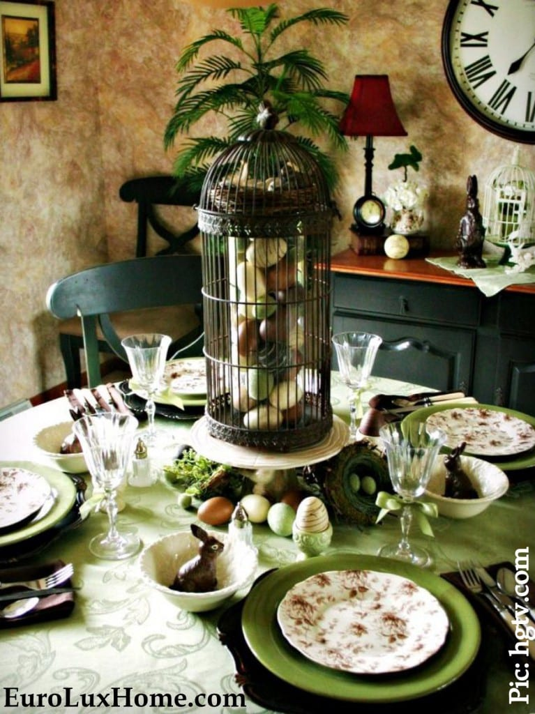 Victorian Easter Table Decor