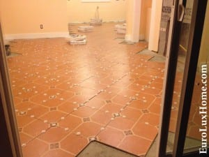 Tiles with spacers