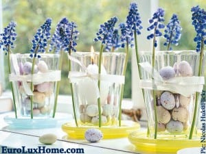 Easter flower glasses