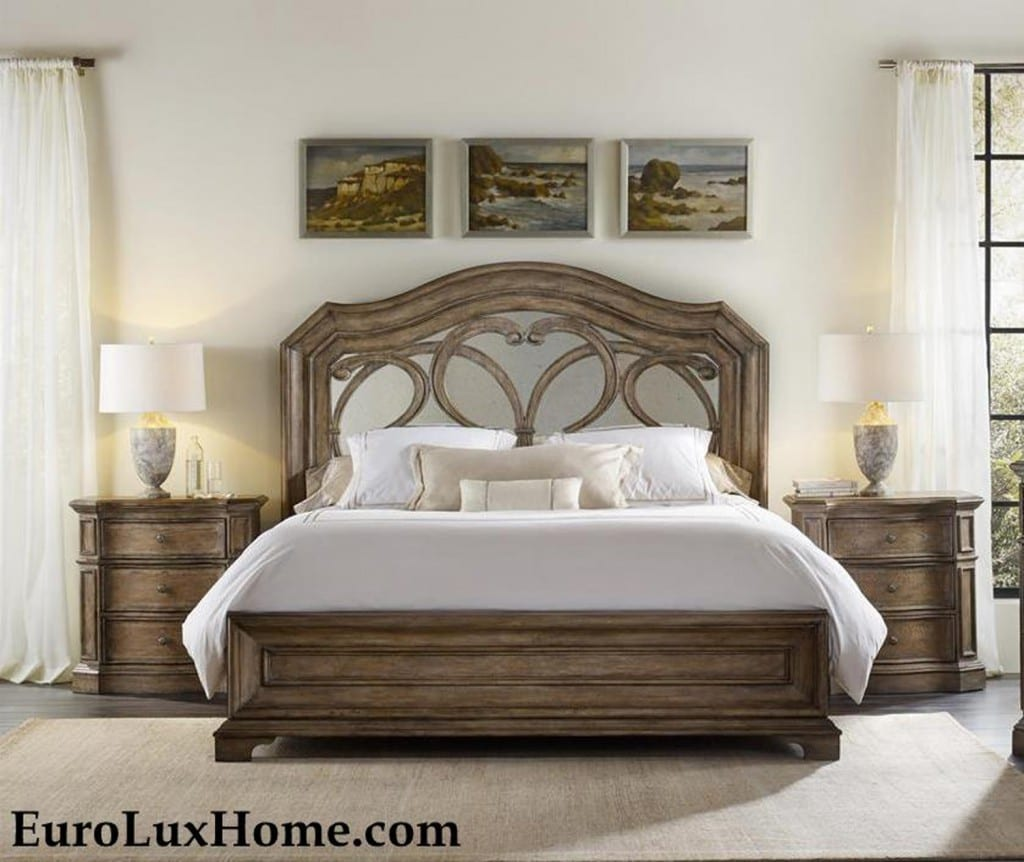 Solana mirrored bed by Hooker Furniture