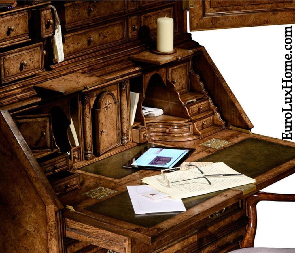 Jonathan Charles carved desk