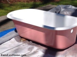 restored pink bath tub