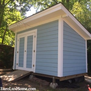 Shed to match vintage bungalow