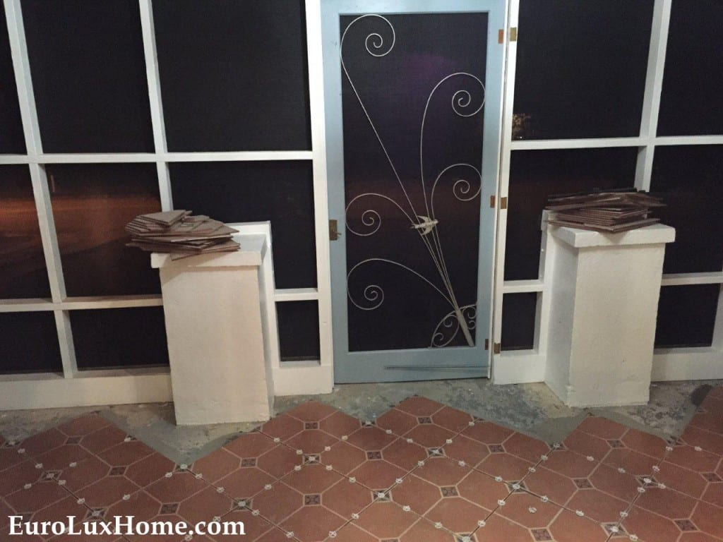 vintage door for cat porch