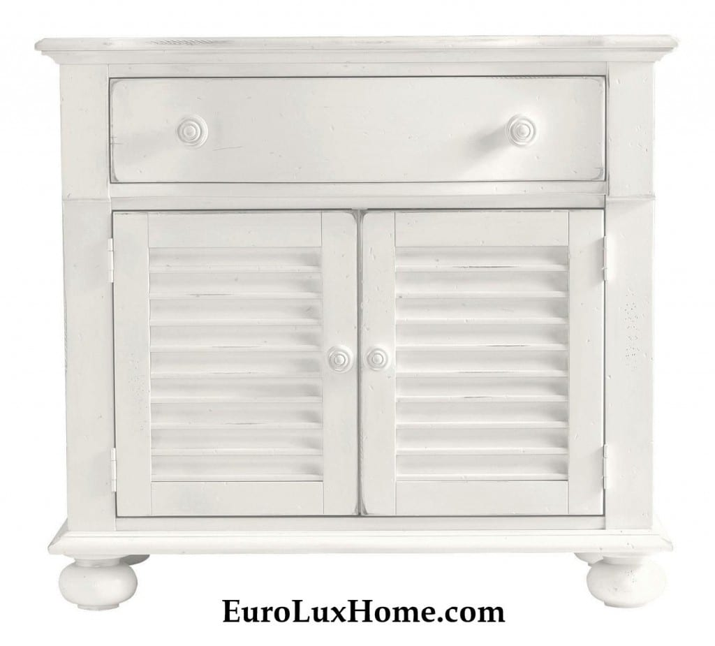 Stanley saltbox white nightstand beachy