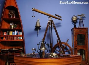 Telescope and maritime decor