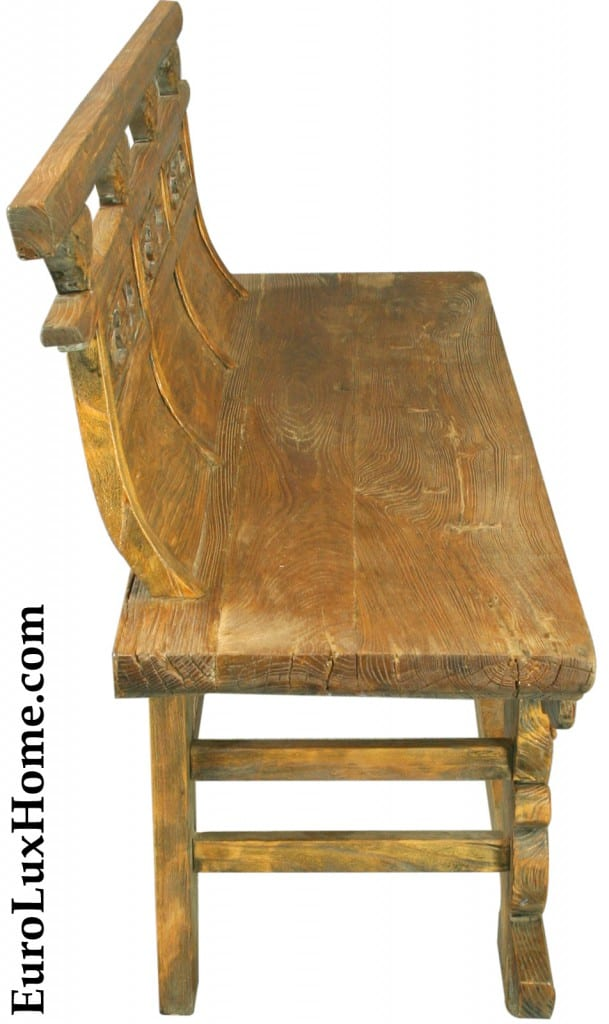 Antique Chinese Opera Bench side