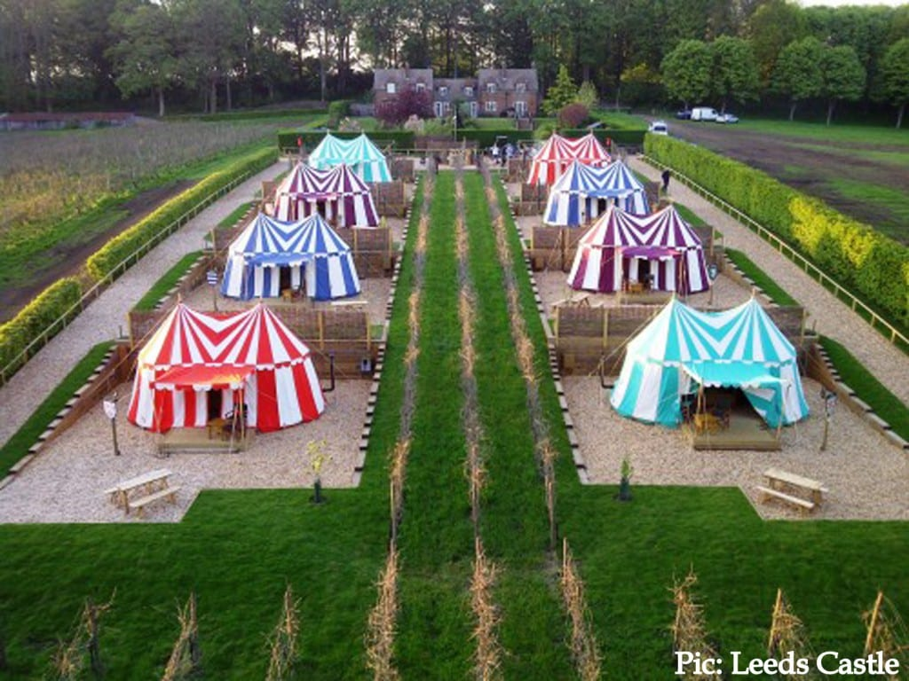 Leeds Castle Knights Glamping Fantasy Camping