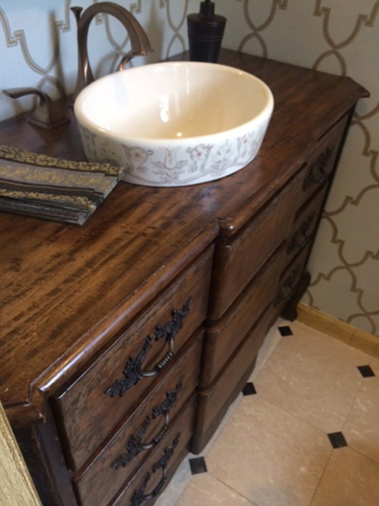 Retrofit Sink Chest French style