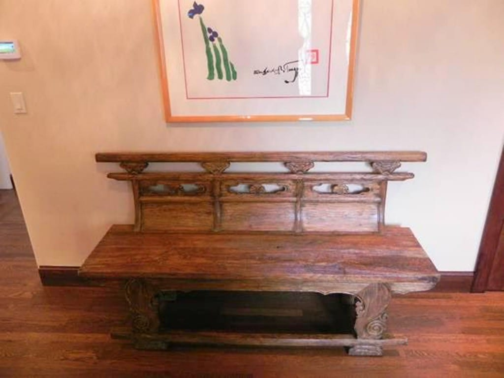 Antique Chinese opera bench