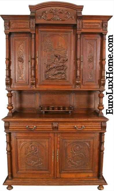 Antique French Hunting Buffet