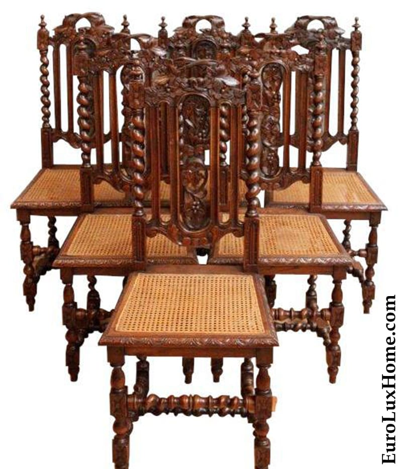Antique French Hunting Chairs