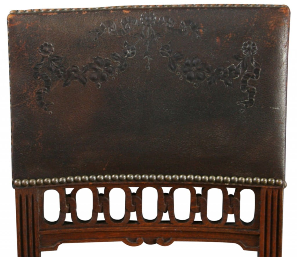 Antique Renaissance Embossed Leather Chair