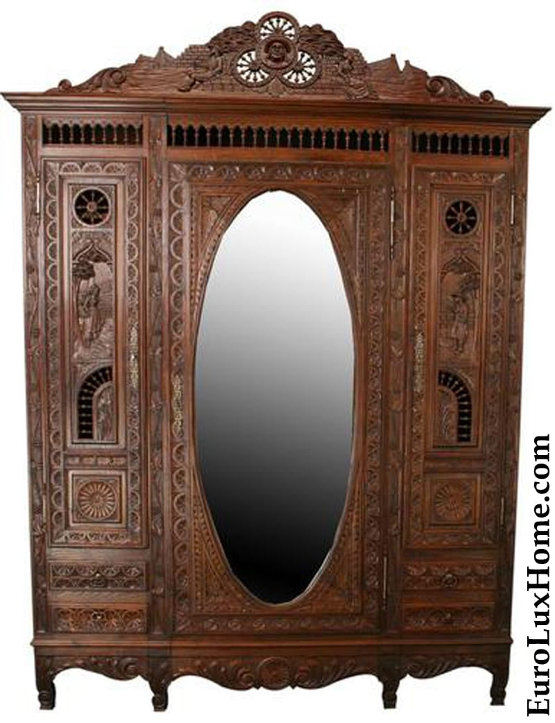 Antique French Brittany Armoire