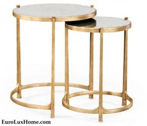 Jonathan Charles Gold nesting tables
