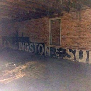 Loft of store with vintage sign