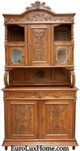 Vintage French Buffet Louis XVI Carved