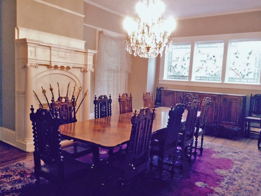 Antique French Table Chairs dining room