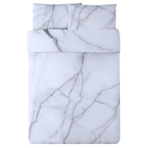 Safe House USA Marble Print duvet cover