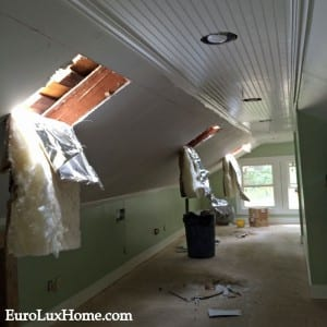 Skylights added to vintage bungalow