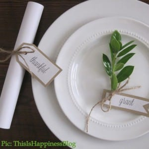 Handmade thanksgiving table decor