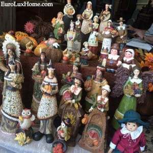 Thanksgiving pilgrims sculptures