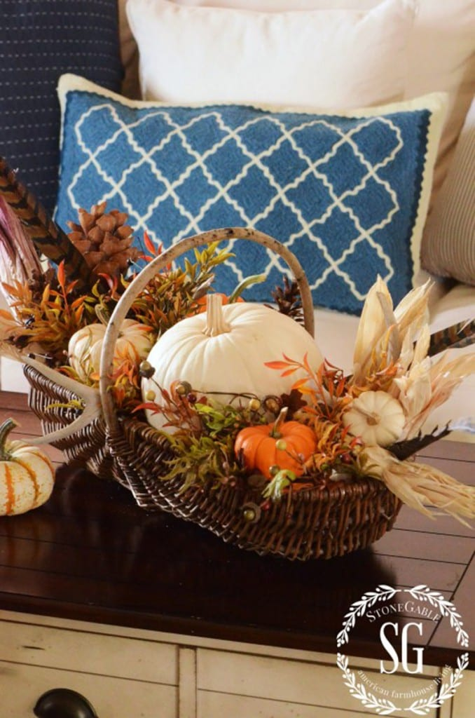 Thanksiving harvest basket