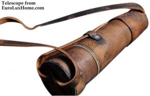 antiqued leather telescope