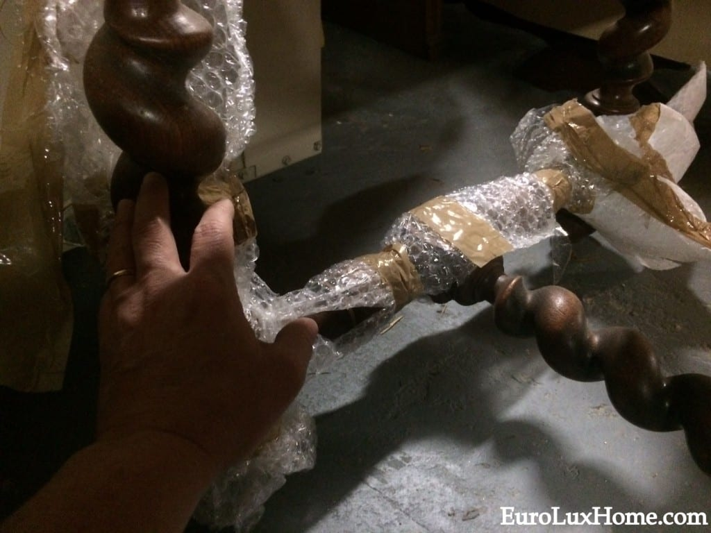 Unwrapping antique French furniture