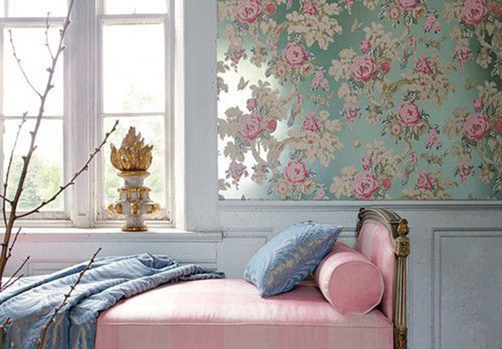 Blue and Pink Floral Traditional