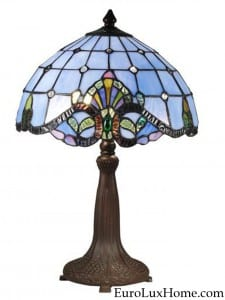 Dale Tiffany Blue Barroque Lamp