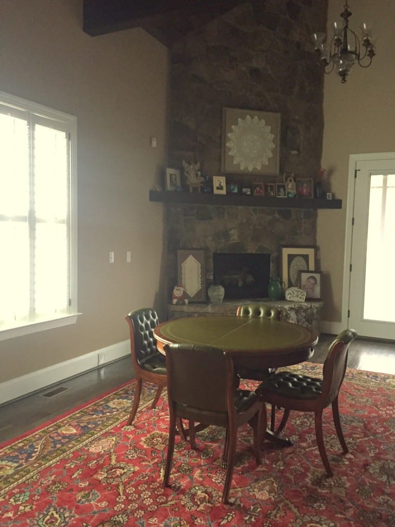 Vintage French Games table room