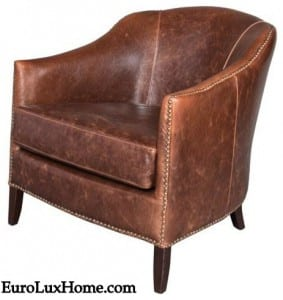 Brown distressed Leather chair