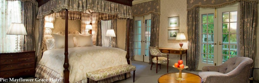 Mayflower hotel with antiques