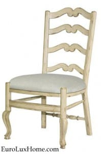 White Ladderback chair French Country
