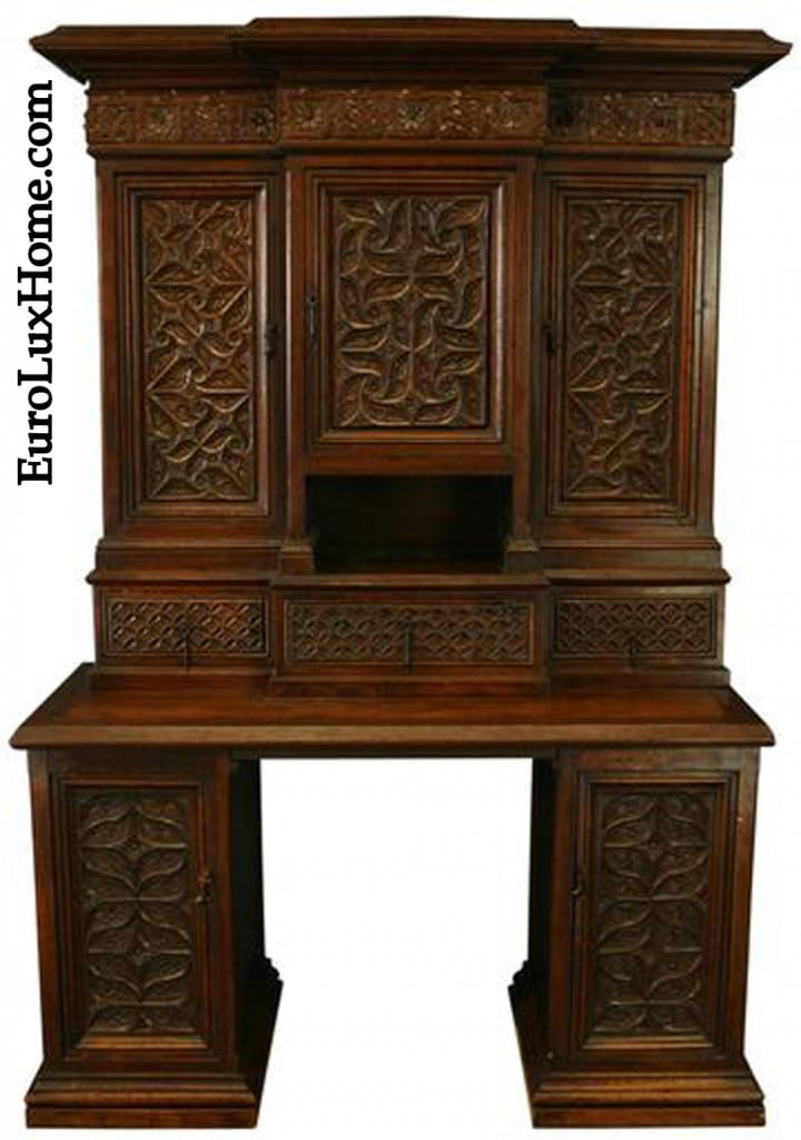Antique French Gothic Desk