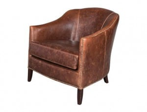 AT-7 Leather Club Chair Distre