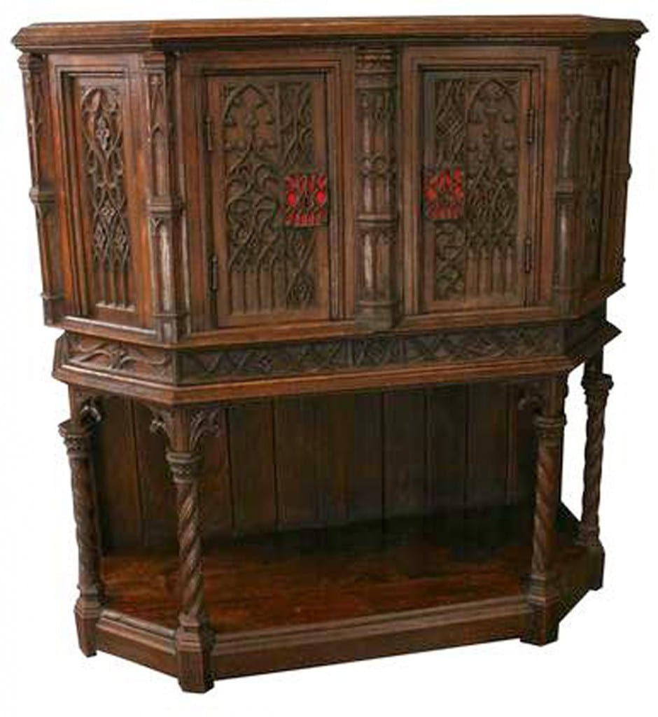 Antique French Gothic Cabinet