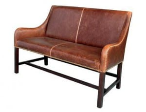 Manchester Antique Saddle Leather Settee AT66