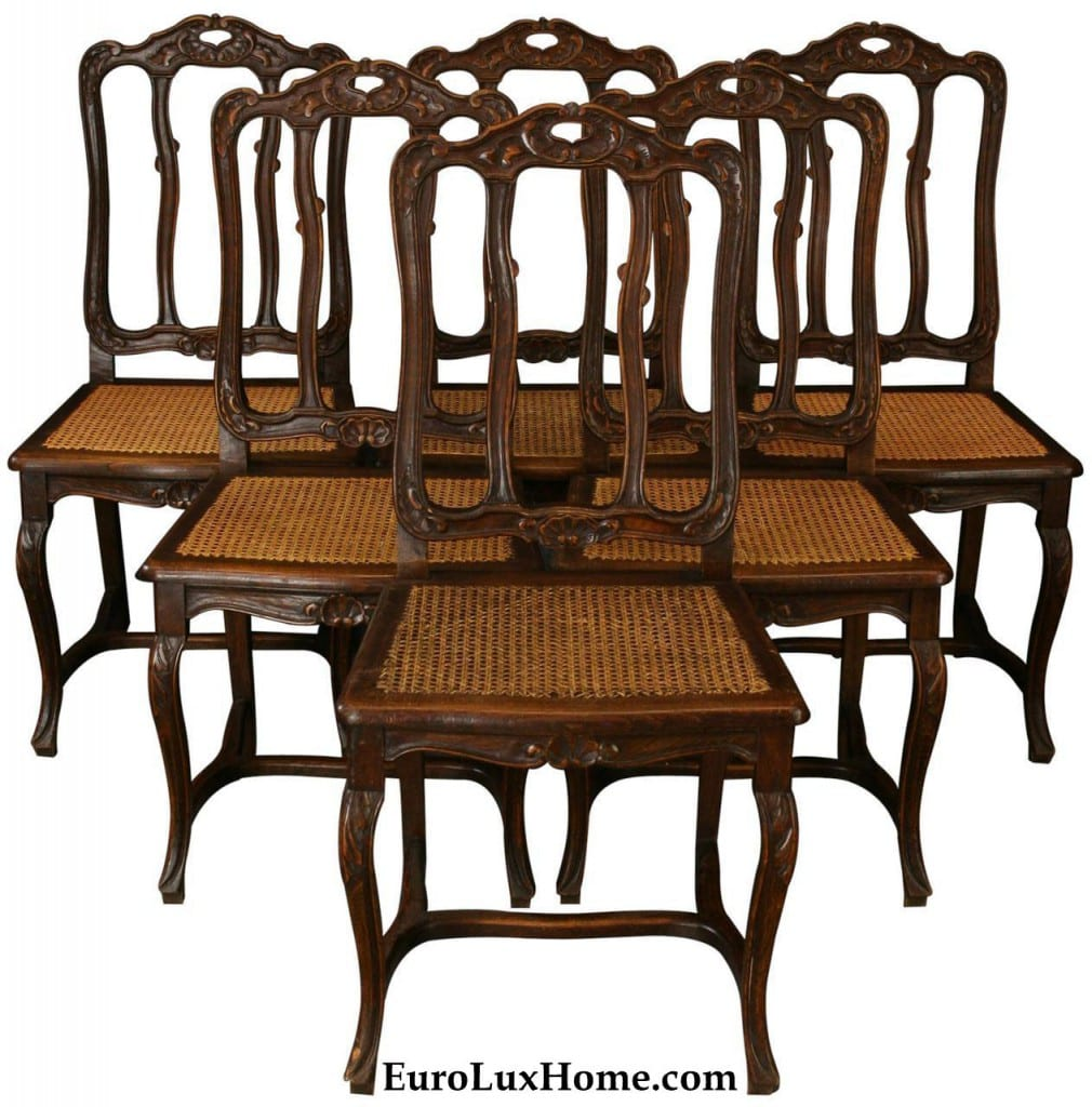 Set Vintage French Dining Chairs 1930