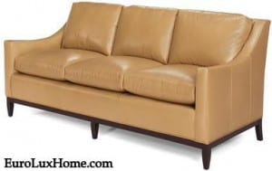 Top Grain Leather sofa hand-made in USA